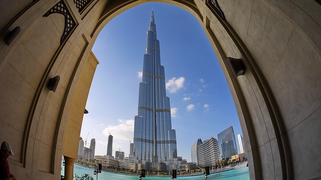Portland cement was used in the construction of the Burj Khalifa, which at 829.8m is the world's tallest building. Image: Pixabay.