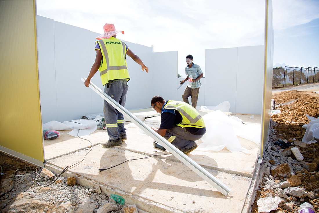 Complete low-cost housing solutions have been installed by Intastor at the Lulu Project in Khayamandi. Image: Intastor