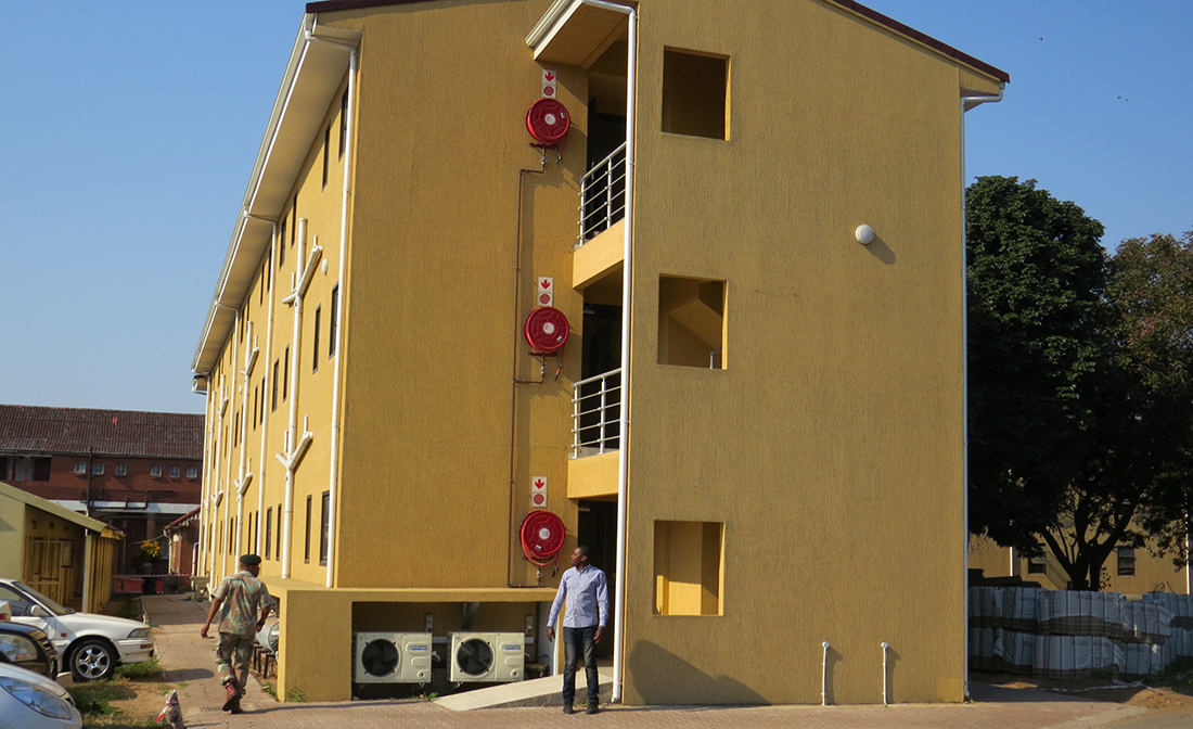 A three-storey accommodation block built by SANDF in Durban. Image: SASFA