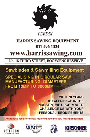 Harris Sawing Equipment cc is a South African manufacturer specialising in the production of circular saw blades and allied equipment. Since 1934 we have always strived to provide the highest quality products that can be fully serviced by ourselves for each product's entire life cycle.
