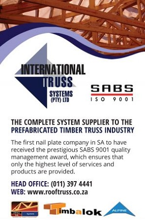 International Truss Systems is a full system supplier to the prefabricated timber truss industry and works through a network of licensed truss manufacturers, providing punched metal connector plates, sundry components and timber engineering software.