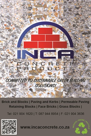 INCA Concrete Products has been manufacturing superior, quality concrete products since 1973. The company's products have been used extensively for all segments of the marketplace including residential, commercial, municipal and industrial applications. A complete line of interlocking paving stone, retaining wall and masonry products are available throughout the Western Cape.