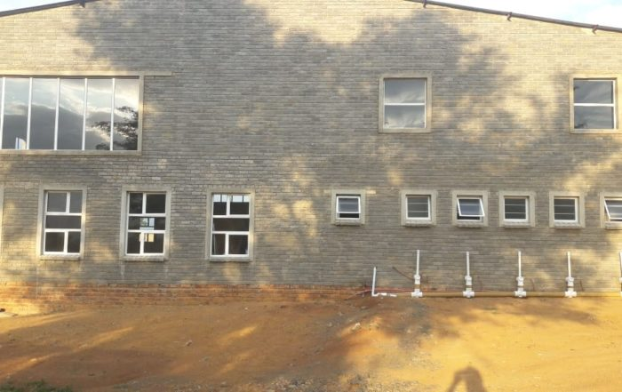 The site in North West Province where the test windows were installed.