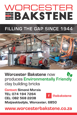 """Worcester Bakstene was registered as a company in 1944 by the late Mr HP Marais (snr). Mr Marais (snr) started clay brick production by hand in 1937. Mr Marais (snr) later """"modernised"""" his operation by use of horse and pokes."""