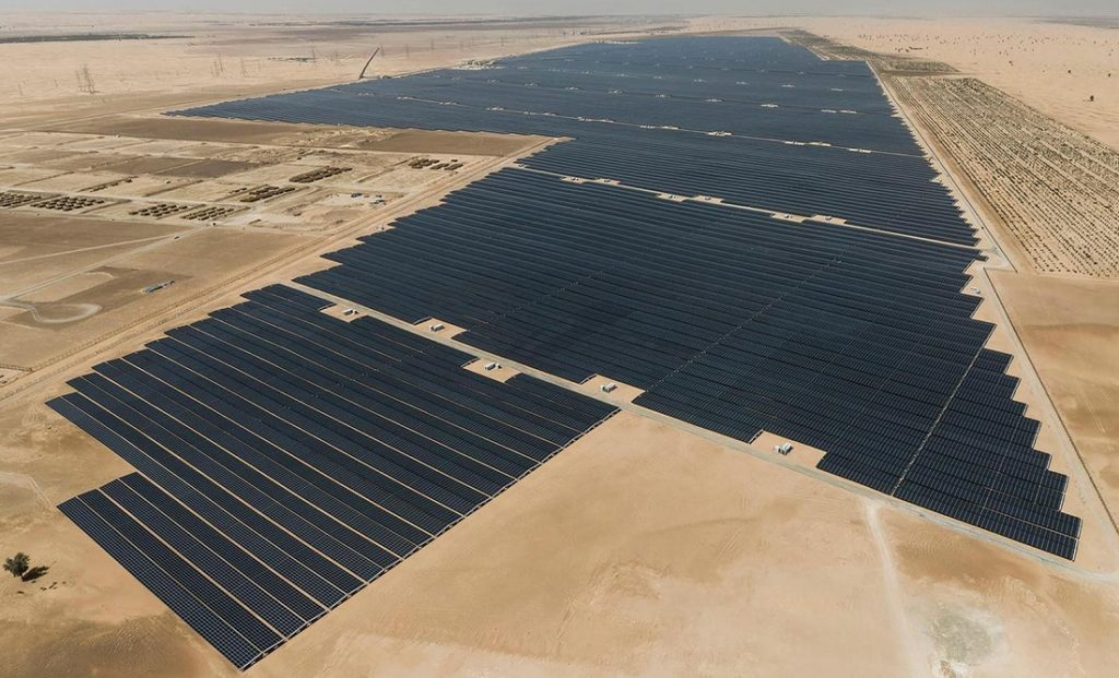 The world's largest solar power project. Image credit: Engadget