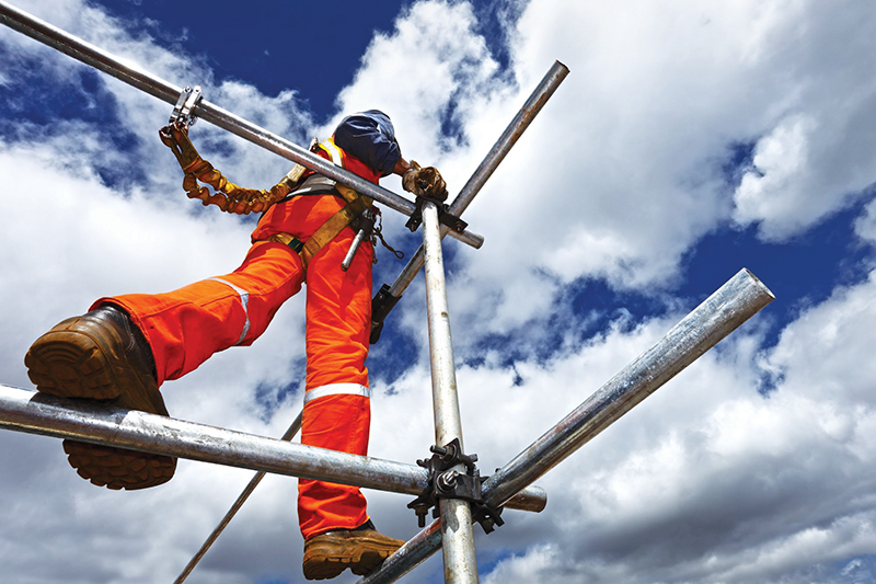 Safety comes first when working at height. Image credit: Strat Training