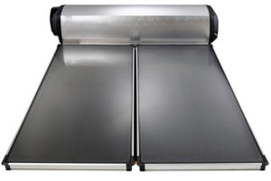 Many people assume that solar is related to solar thermal such as this flat-plate solar hot water system, however it also includes electricity generation through photovoltaics, or vice versa. Image credit: Solahart