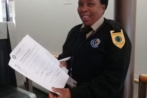 On 14 March 2019, almost five years after first moving into her property, Ms Noludumo received her title deed. Image credit: Housing Finance Africa