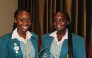 Nonjabulo Zikhali and Nolwazi Sindane of Hoerskool Secunda. Image credit: Eamonn Ryan