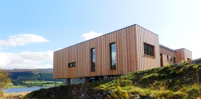 In 2016, 83% of new housing starts in Scotland were made from timber. Image credit: Inhabitat