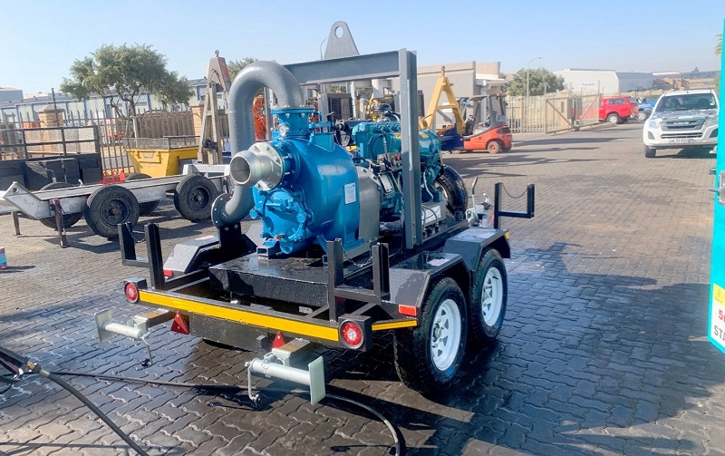 Integrated Pump Rental can customise trash pumps for specific applications, and trailer-mounted trash pumps offer greater flexibility to the end user. Image credit: Integrated Pump Rental