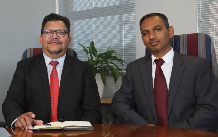 CESA CEO Chris Campbell (left), and Sugen Pillay, President of CESA. Photo by AlfaPeople