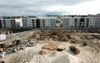 Construction activity in the social housing space. Photo by SHRA