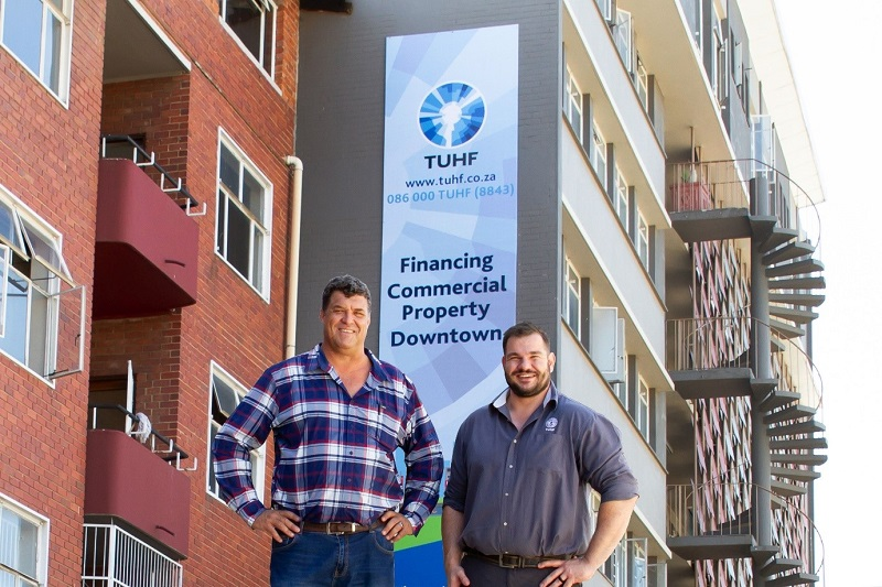 From left: Theuns Myburgh, Professional Valuer and Raymond Taylor, TUHF Portfolio Manager for Bloemfontein
