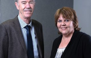 Hanlie Turner, Business Development Manager of CCSA, says the cement and concrete industry's new unified body has already made its presence felt in just a few months of operations. Here she is pictured with Bryan Perrie, CEO of CCSA. Photo by CCSA