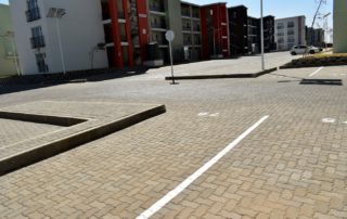 Small section of the pavers and kerb blocks. Image by Technicrete