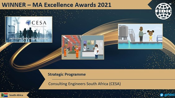 CESA win Strategic Programme category at the 2021 FIDIC Member Association Excellence Awards .Image :CESA